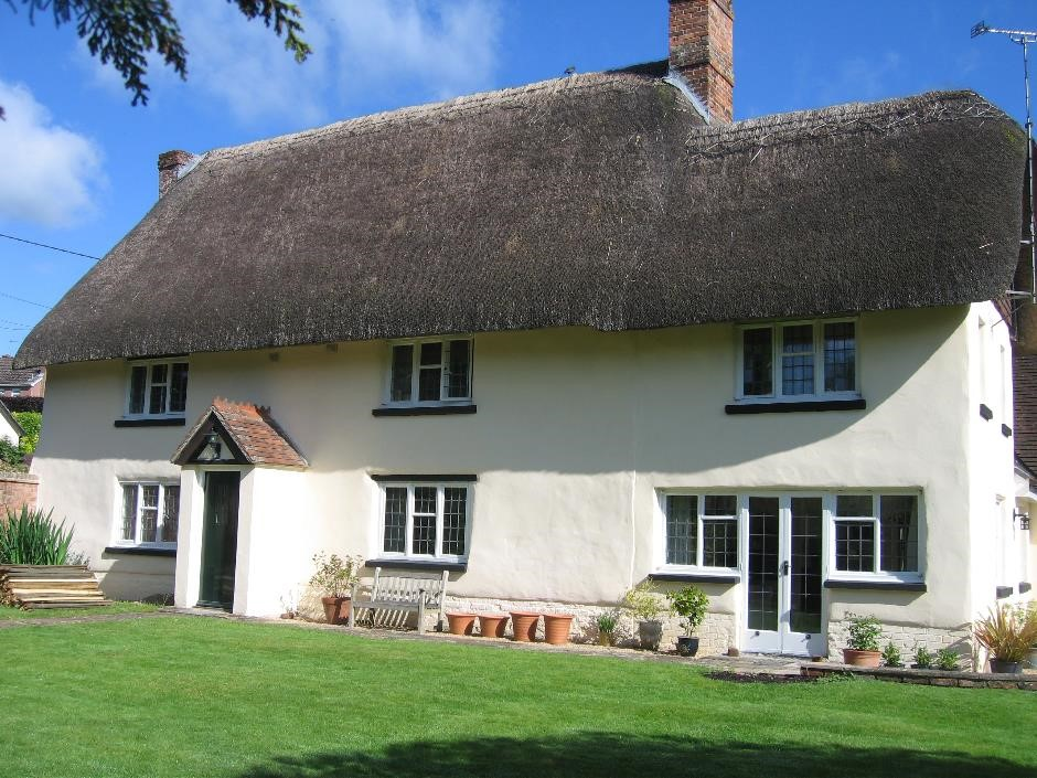 Lime Render on Cob Cottage