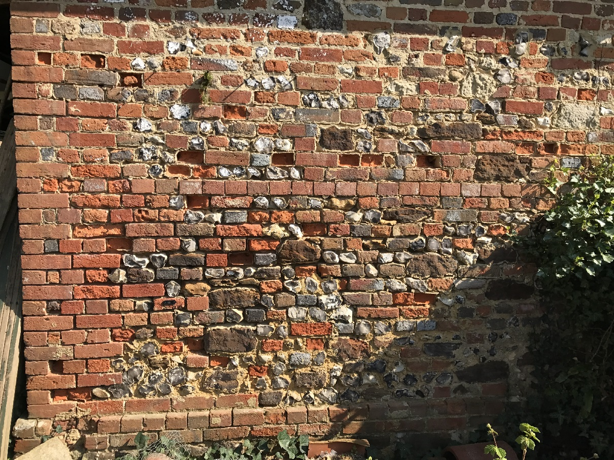 Brick and flint in a poor condition