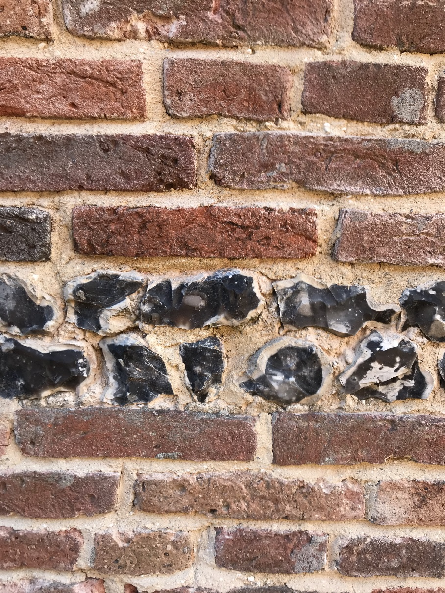 Brick and Flint lime repointing
